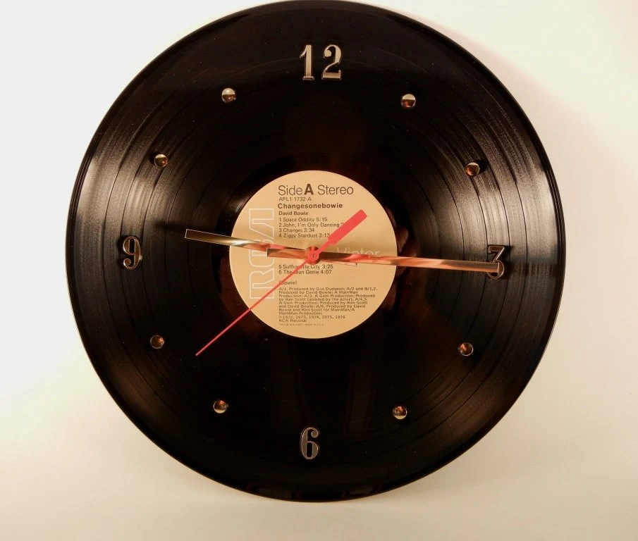 David Bowie Vinyl Record Wall Clock (Changes One Bowie)