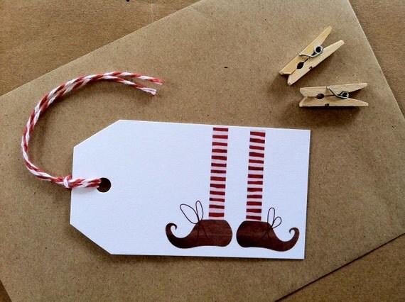 Christmas Elf Gift Tags x 6