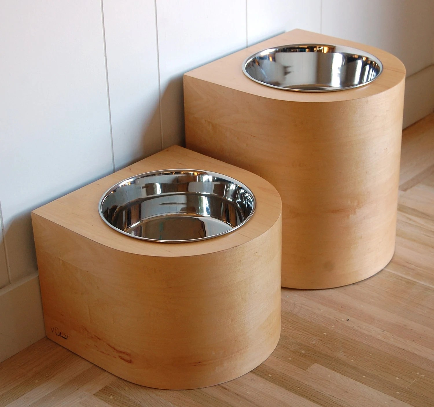 2 quart raised feeder set for large dogs - SALE