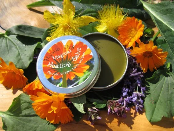 Herbal Salve- Magical Healing Salve- with Calendula, Comfrey, Tea Tree, Lavender.....