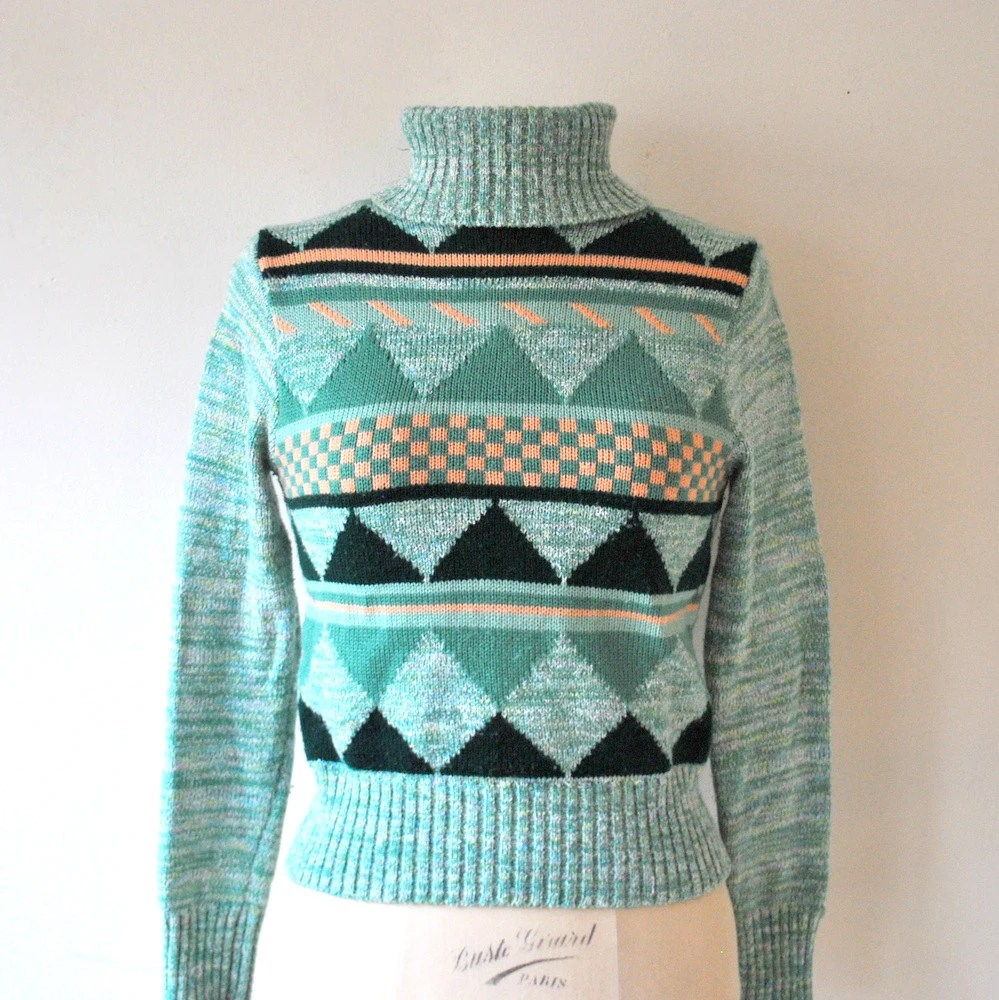 1970's Ski Bunny Sweater from RockAndRollVintage on Etsy