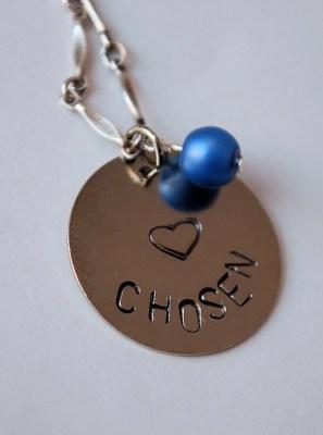"Handstamped ""Chosen"" Necklace"