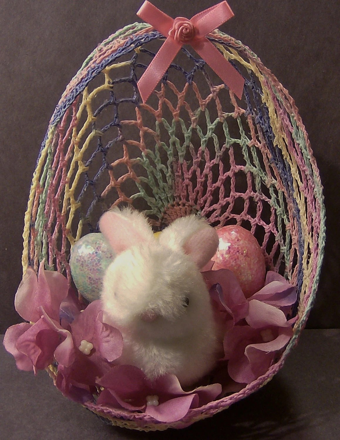 Large Crochet Easter Egg With Bunny