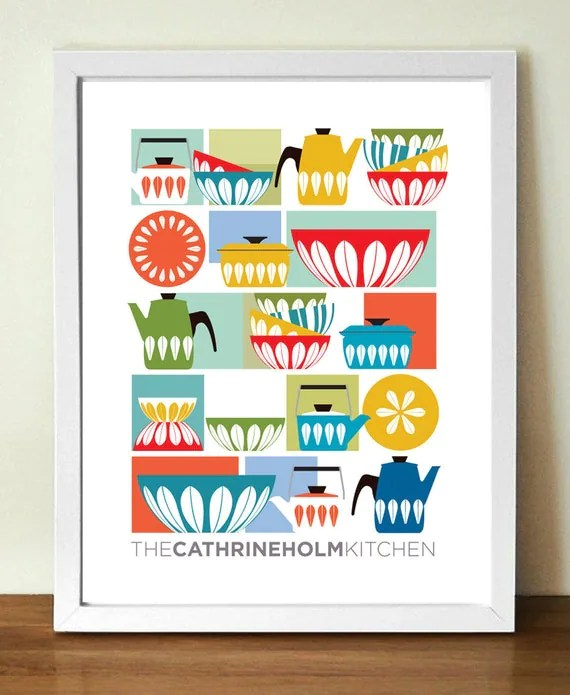 Mid century poster print , CATHRINEHOLM KITCHEN, A3 (11 x 17 in)  giclee print