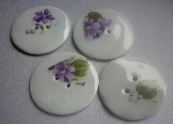 Hint of Blue Porcelain Ceramic Buttons by Susan Sharpe
