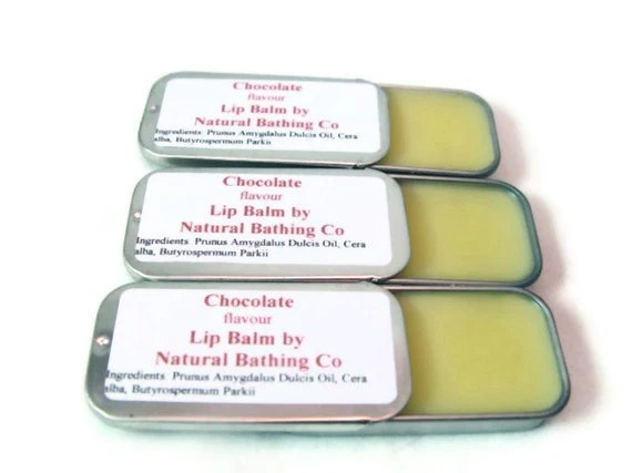Chocolate Lip Balm Flavored Slide Tin 0.5oz Natural Lip Balm Lip Salve
