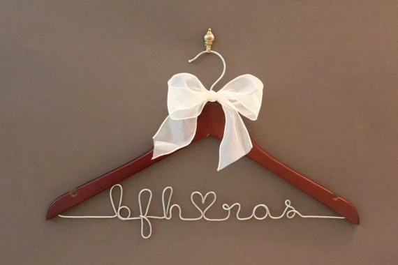 Personalized Bridal Hanger, Wedding Dress Hanger, Custom Wire Name Hanger, Bridal Gift