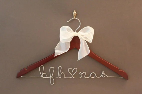 Personalized Bridal Hanger, Wedding Dress Hanger, Custom Wire Name Hanger, Bridal Gift