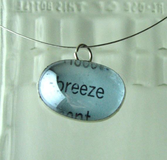 Breeze Necklace, book page necklace, literary necklace - ESPARTOstudio