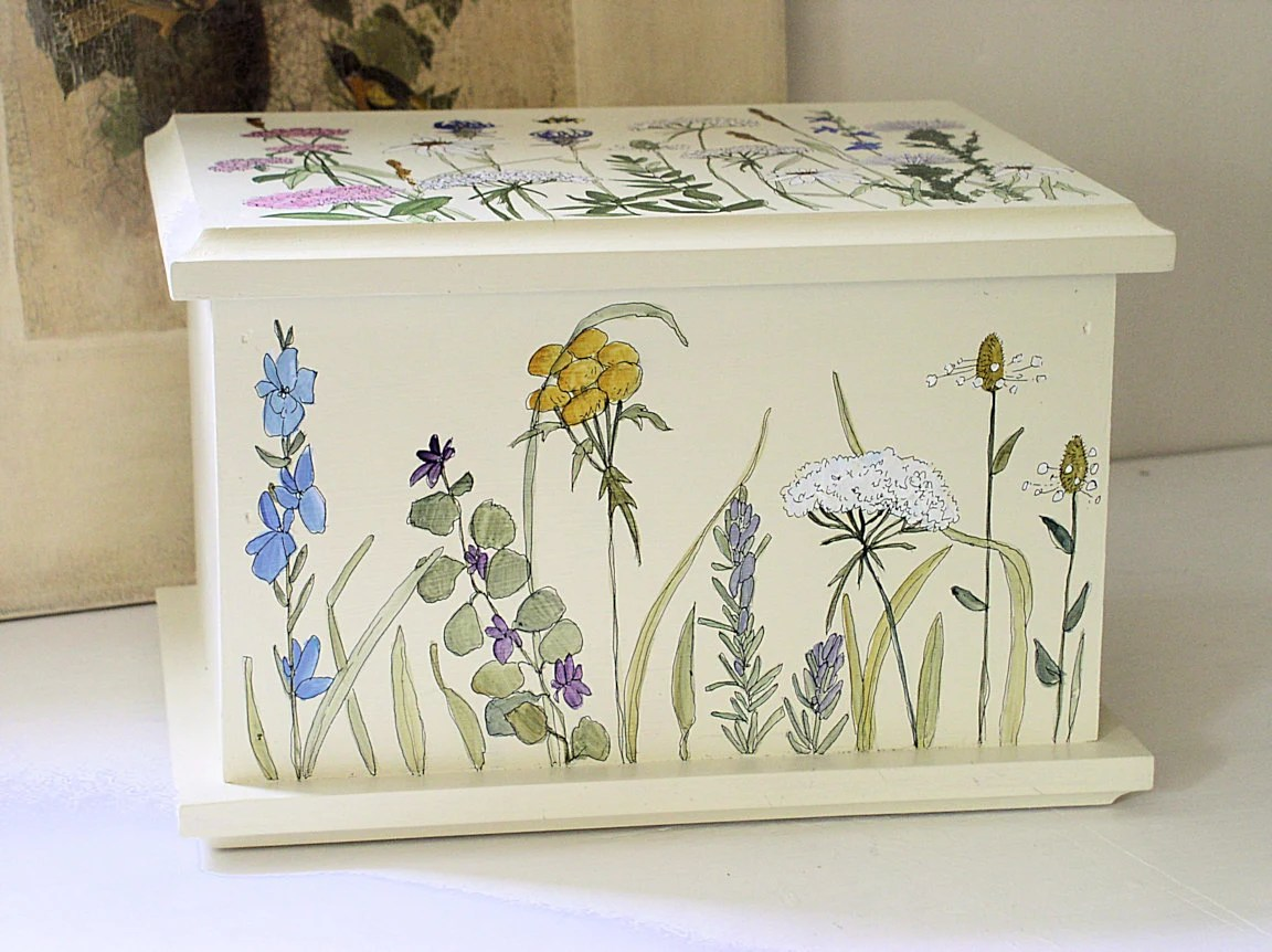 Painted Cottage Furniture Box Woodland Flowers