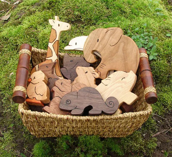 Wooden Toy Animals - Free Shipping to the United States - Wood Toys ...