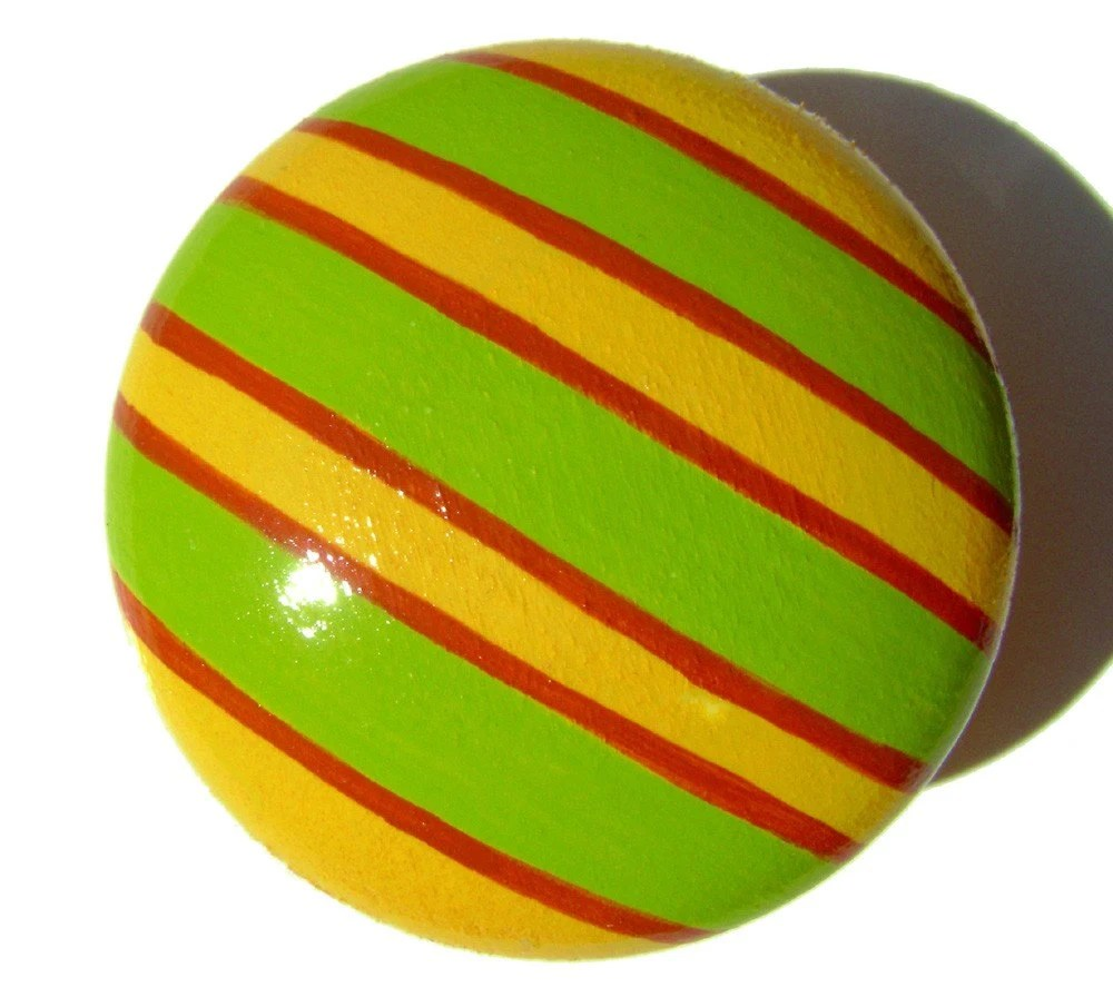 Hand Painted Drawer Knob: Stripy Stripes