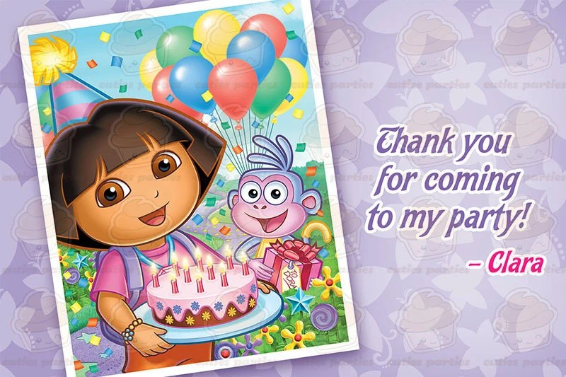 Printable Invitations Dora Explorer