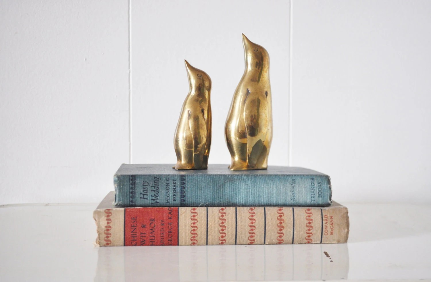 Pair of Brass Penguins