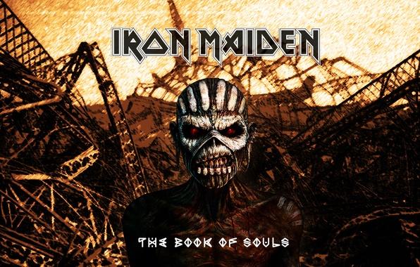 Обои череп скелет свалка Heavy Metal Iron Maiden Book