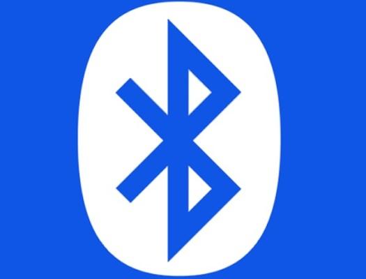 O símbolo do Bluetooth.