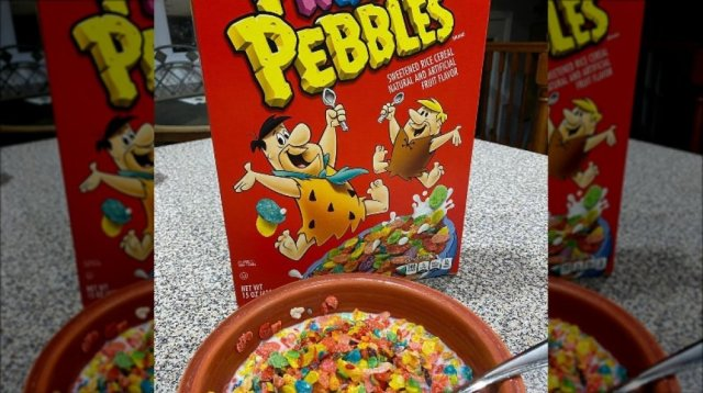 Pebble cereal box