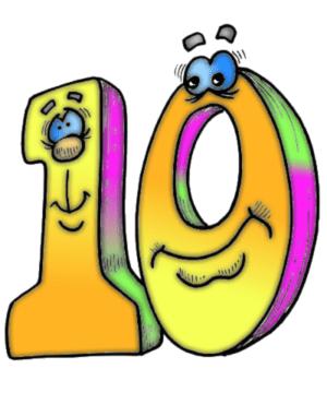 Веселые цифры, можно распечатать формат А4 для дня рождения