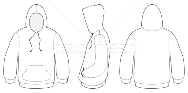Hooded Sweater Template Vector Illustration Vector