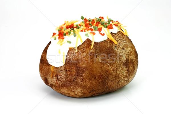 Loaded Baked Potato Isolated Stock Photo © Danny Hooks