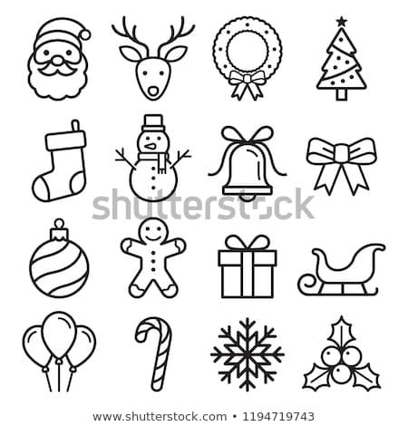Christmas Icon Set Vector Illustration Nataliya Kalabina