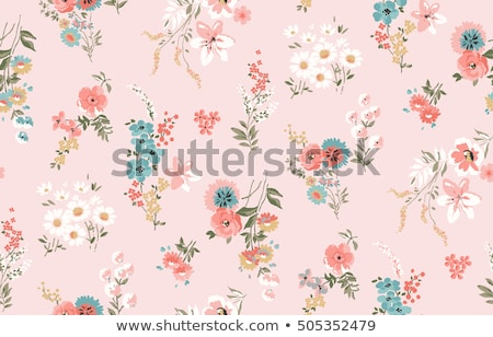 Seamless flower background pattern vector illustration
