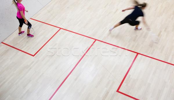 二 · 女 · 壁球 · 玩家 · 快 · 行動 - 商業照片 © lightpoet (#5274444) | Stockfresh