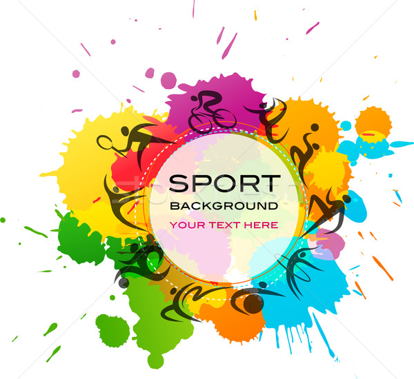 Sport background - colorful vector illustration vector ...