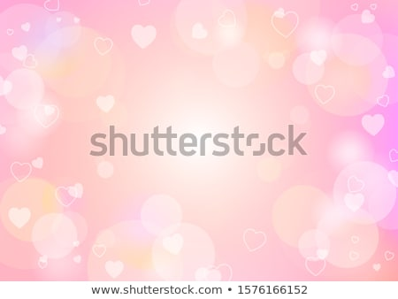 Abstract Red Shiny Heart Background Vector Illustration