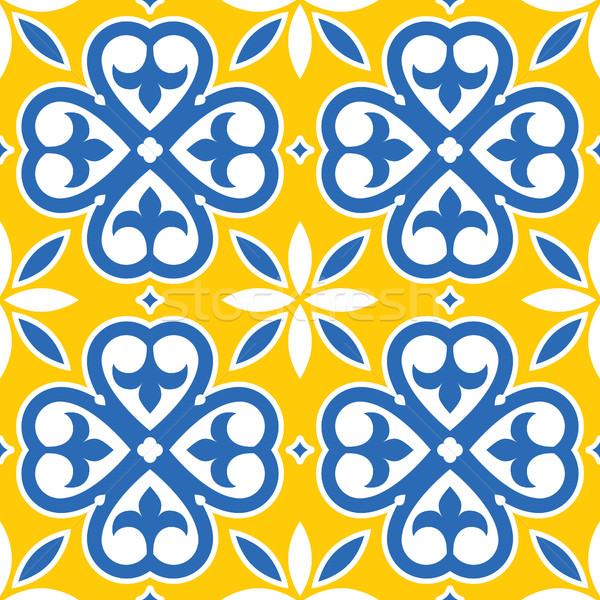 portuguese tile seamless design