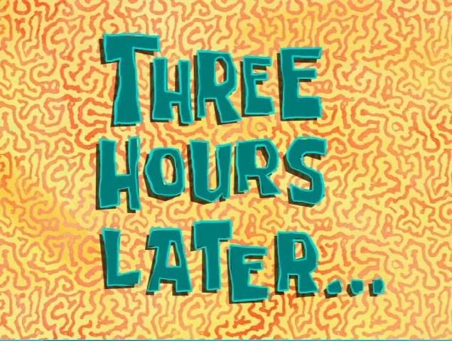 horas reloj esperar spongebob