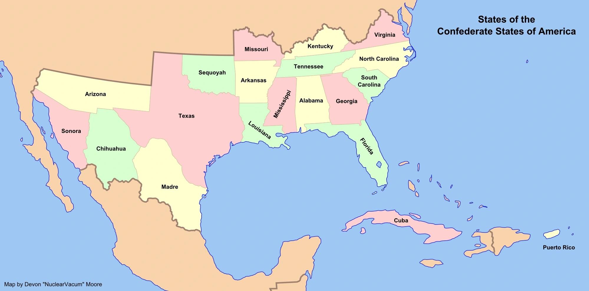 Alternate History Confederate States Of America Alternate