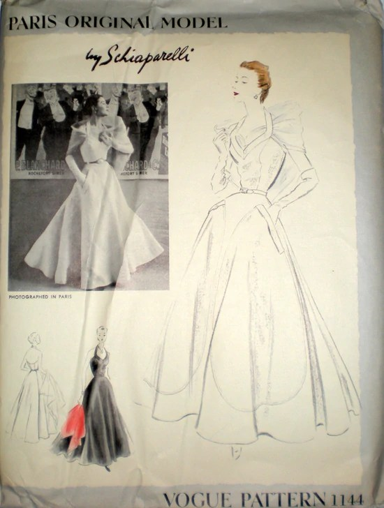 1950s Schiaparelli pattern Vogue 1144