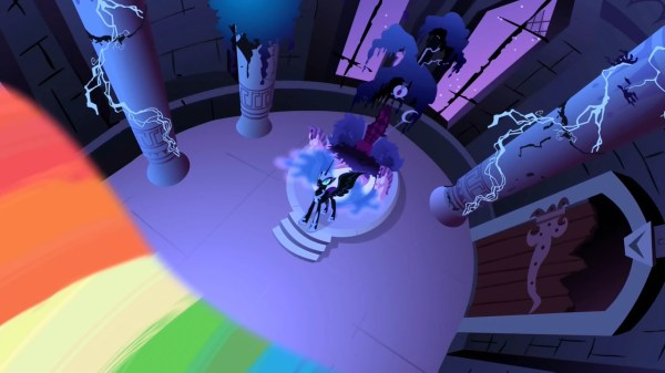 Image Nightmare Moon about to get hit by the beam S1E2