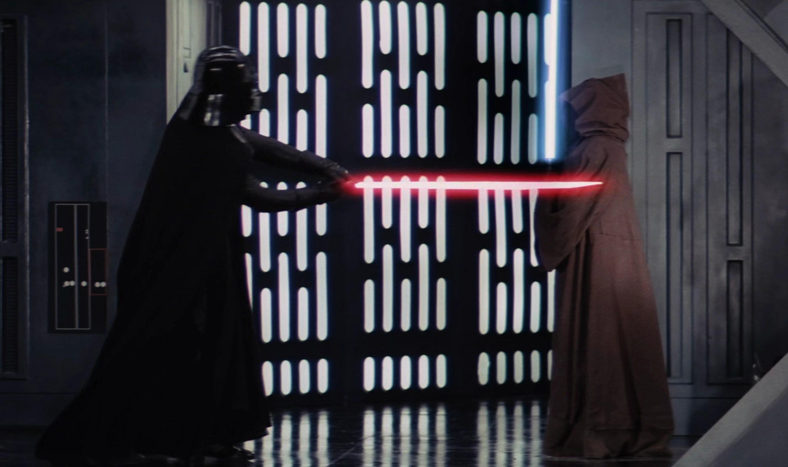 Obi Wan Kenobi death, Obi Wan Kenobi death star, obi wan kenobi fights darth vader