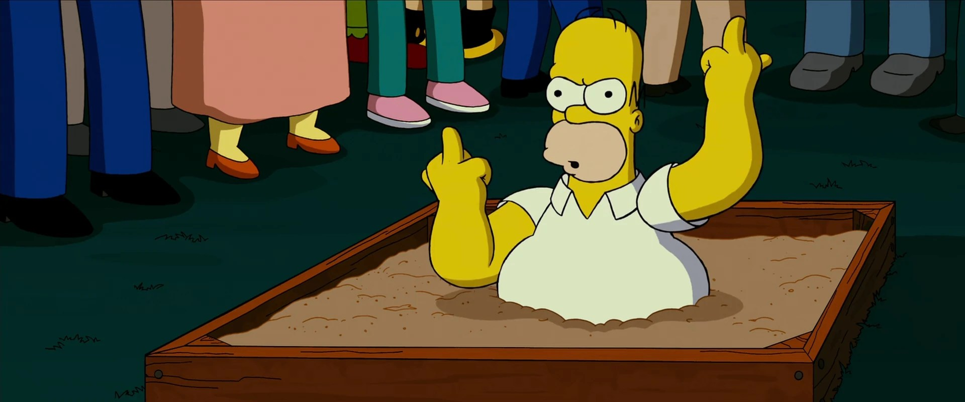 homer giving the finger