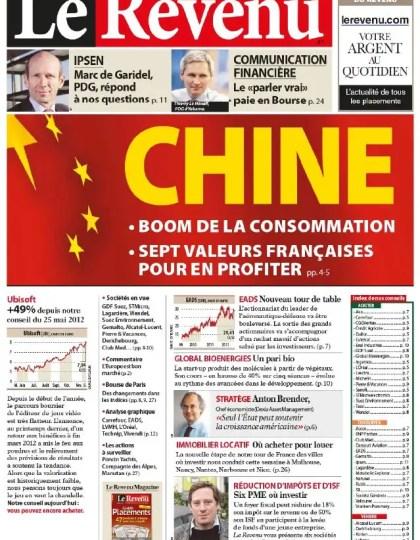 Le Revenu Hebdo Bourse N°1205 du 14 au 20 Décembre 2012
