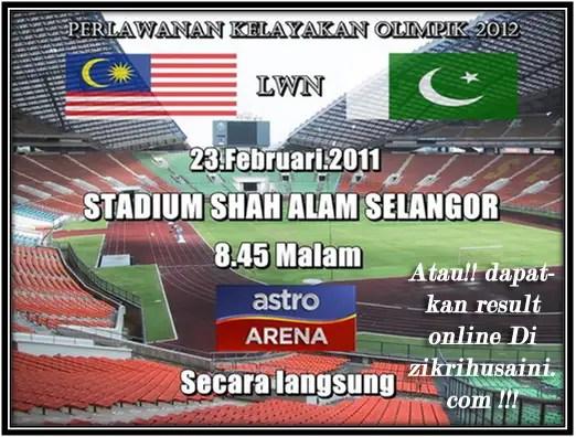 malaysia vs pakistan, perlawanan kelayakan olimpik 2012, perlawanan bola sepak malaysia vs pakistan 2011,