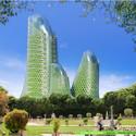 Torres Fotosíntesis desde el nivel de calle. Imágen cortesía de Vincent Callebaut Architecture