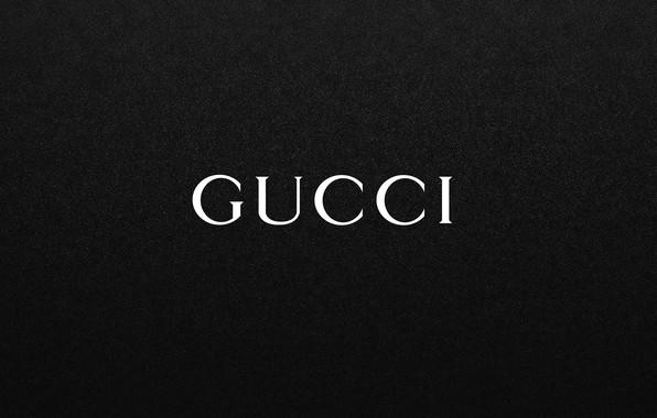 Обои чёрный, надпись, лого, fon, GUCCI, гуччи картинки на ...