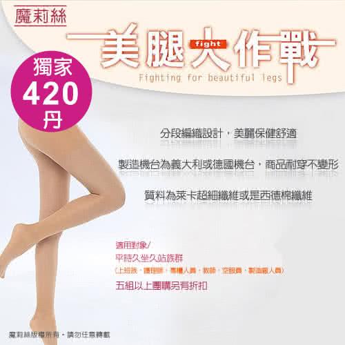 [試穿推薦分享]【魔莉絲彈性襪】重壓420DEN西德棉大腿襪一組兩雙(壓力襪-顯瘦腿襪-醫療襪-大腿襪-靜脈曲張襪 ...