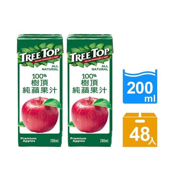 【Tree Top 樹頂】100%樹頂蘋果汁200ml*24入x2箱(共48入)