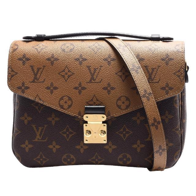 【Louis Vuitton 路易威登】M41465 METIS系列經典Monogram雙色手提/斜背郵差包