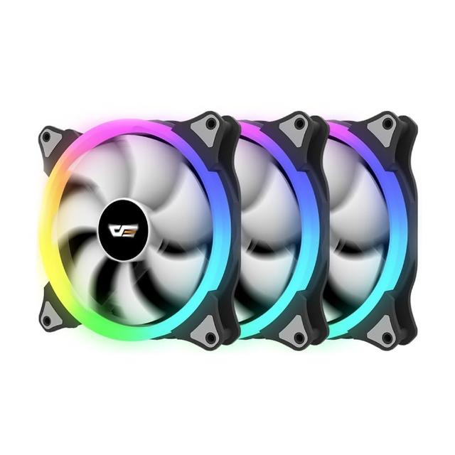 【darkFlash】CS140 A-RGB 電腦散熱風扇3合1套裝 附控制板&遙控器(DF02-0024)
