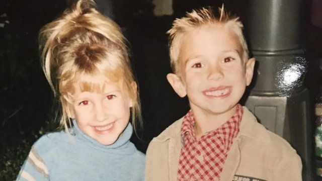 young Savannah Chrisley with her brother Chase Chrisley