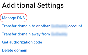 click manage dns