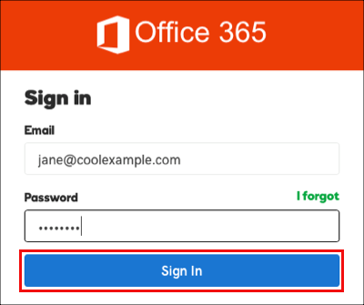 Click sign in again