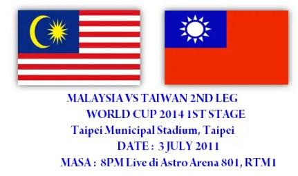 malaysiavstaiwan2, keputusan terkini malaysia vs taiwan, taiwan vs malaysia, malaysia vs taiwan 2nd leg, malaysia vs taiwan 2nd leg 3 julai 2011,