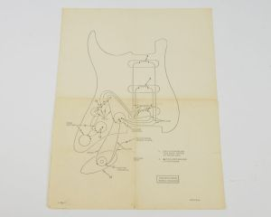 Vintage 1950's 1960's Fender Stratocaster Strat Wiring