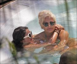 Pixie Lott with girlfirend having fun at pool in Marbella in Spain - Hot Celebs Home